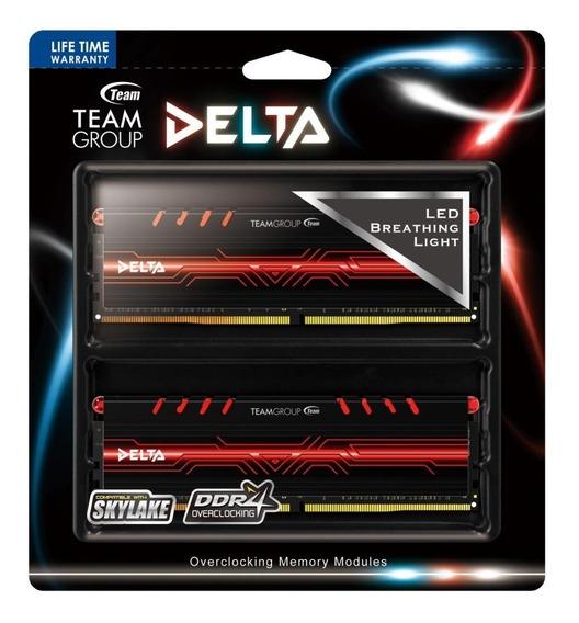 Memoria Team Ddr4 8gb 4gbx2 3000mhz Delta Red Gamer