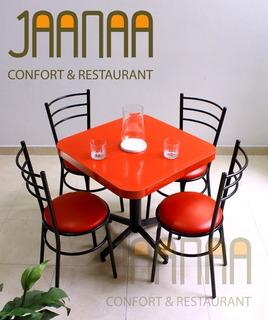 Mesa Con 4 Sillas Para Restaurante/ Bar/ Cafetería