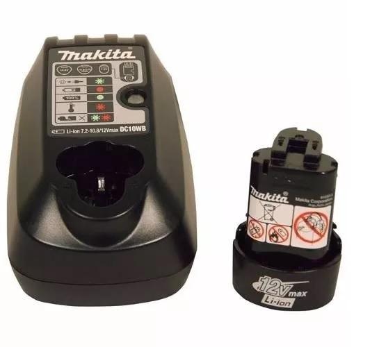 Kit Com 1 Bateria 12v Íons De Lítio Bl1014 + 1 Carregador