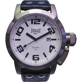 Relógio Everlast - E061 - Leather Strap - White Dial