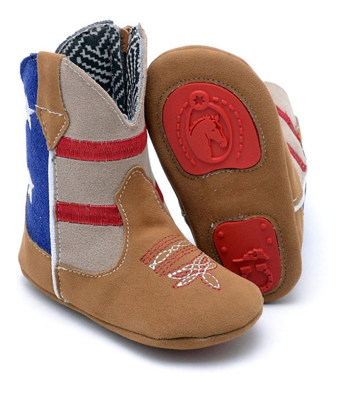 Bota Texana Infantil Baby Kids Country Rodeio Cowboys Peão