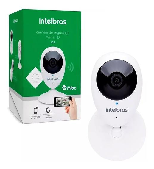 Câmera Ip Intelbras Ic3 Mibo Wifi Hd 720p Micro-sd Segurança Pronta Entrega