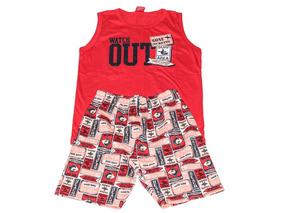 Conjunto De Menino Camisa Bermuda Infantil Kyly