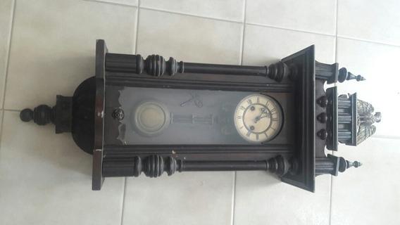 Reloj Antiguo De Pared A Pendulo Completo Funcionando..total