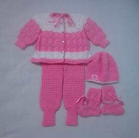 Conjunto Para Bebê De Tricô
