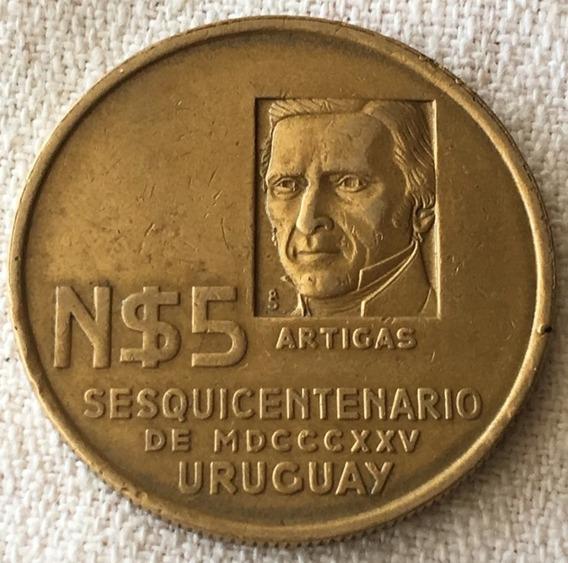 Uruguay : Moneda 5 N Pesos 1975 - Sesquicentenario /artigas