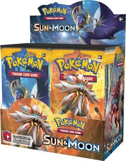 Box Sun Moon Booster Pokemon Tcg Sol E Lua 36 Boosters Xy12