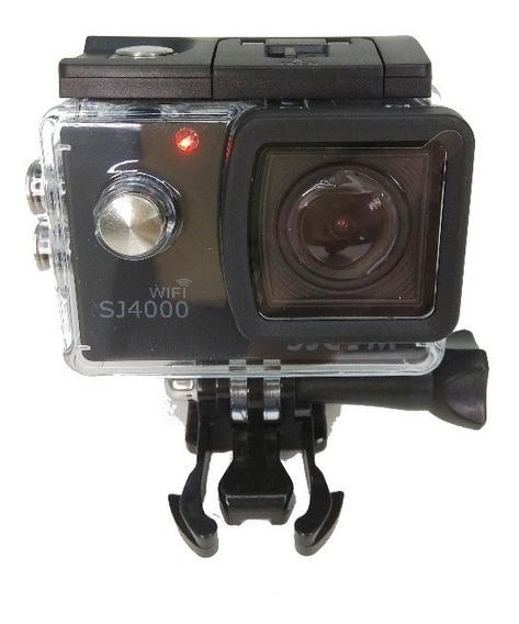 Sj4000 Wi-fi Sjcam + Microfone Motovlog+sd 16 Gb Patomotos