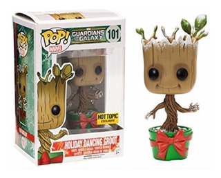 Holiday Dancing Groot Guardians Of Galaxy Marvel Funko Pop