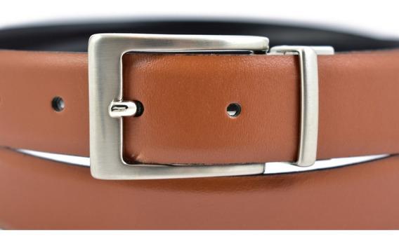 Cinturon Cuero Piel Genuina Leather Belt Hebilla Reversible