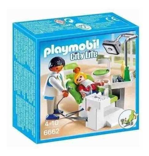 Bonecos Playmobil 6662 Dentista Com Paciente