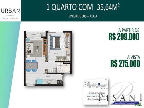 Urban Lapa, Apartamento Studio Com Varanda, 1 Quarto - Ap02064