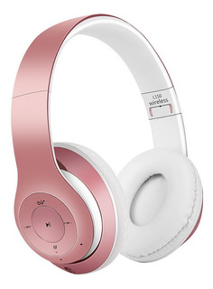 Auriculares Estéreo Bluetooth Con Micrófono Oro Rosa