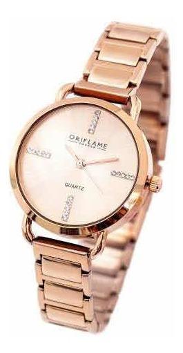 Reloj Rose Goldtone Watch Con Cristal De Swarovski