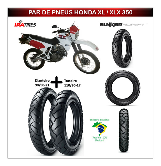 Kit Pneu Honda Xl 350 / Xlx 350 Dianteiro E Traseiro