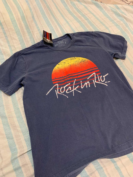 Camiseta Estonada Sunset Original - Rock In Rio 2019