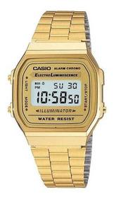Relógio Casio Original Dourado Unissex Retrô A168wg-9wdf.