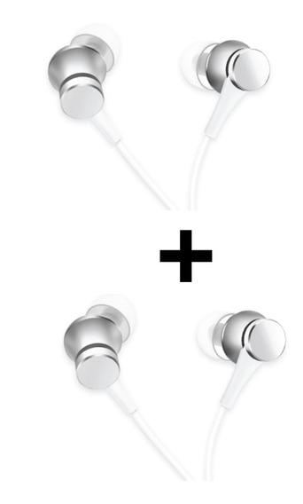 2x Fone De Ouvido Xiaomi Mi In-ear Headphones Cinza