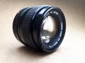 Lente Canon 50mm / F1.4 - Super Clara, Para Câmera Analógica