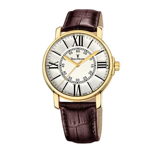 Relógio Jean Vernier Masculino Ref: Jv1155m Social Dourado
