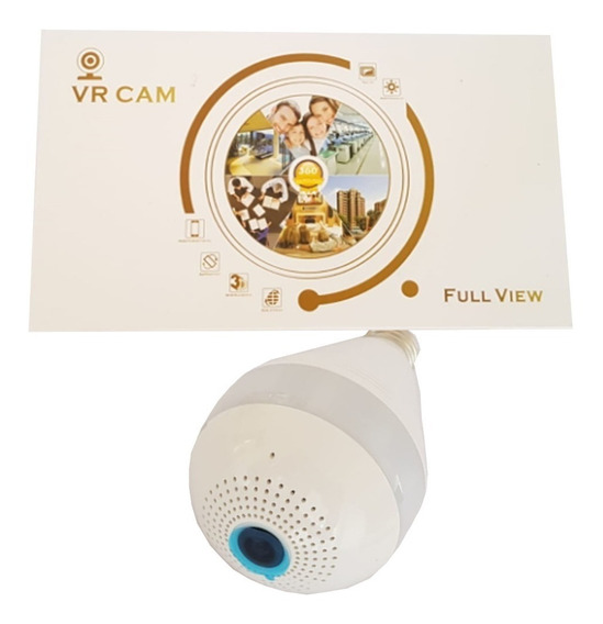 Câmera De Segurança -lâmpada Panorâmica 360 Wifi V380