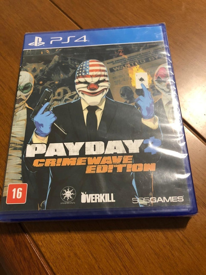 Payday 2 Crimewave Edition Ps4 Midia Fisica