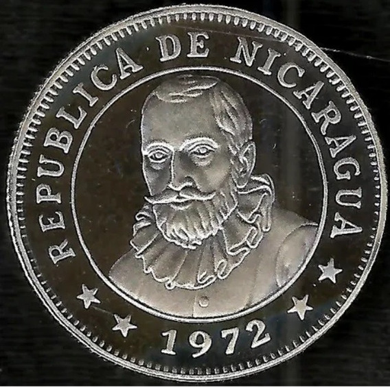 Nicaragua 1972 50 Centavos De Córdoba Proof Solo 20 Mil