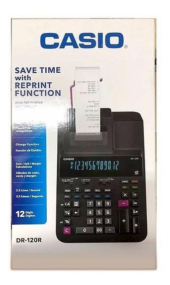 Calculadora Com Bobina Casio Dr-120r-bk Bicolor 12 Dígitos