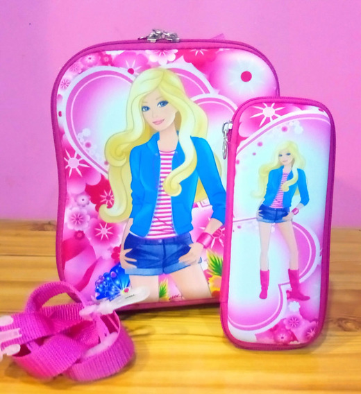 Paquete Lonchera + Lapicera Barbie Frozen Hello Kitty