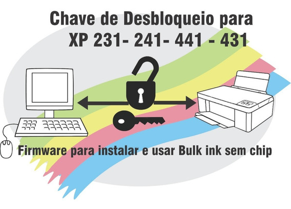 Chave De Desbloquear Impressora Xp241 Xp231 Xp431 Xp441