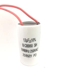 Capacitor Dielétrico P/ Partida De Motor 12uf/250vac