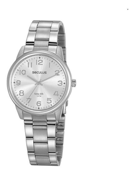 Relógio Feminino Seculus 20863l0svna3 Prateado