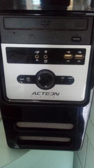 Cpu Acteon Dual Core 2gb Hd 320gb Usada Perfeita.