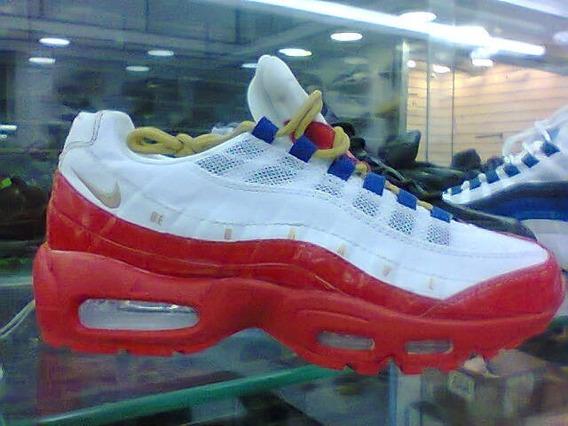 Tenis Nike Air Max 95 Vermelho E Branco Nº38 Ao 43 Original