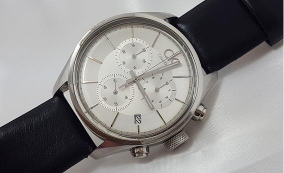 Relógio Masculino Calvin Klein Cronógraf Swiss Made Original