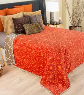 Cobertor Plus 2 Piezas Doble Estampado Alhambra Esquimal