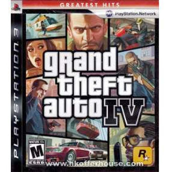 Jogo Grand Theft Auto Iv 4 Gta Playstation 3 Ps3 Física Lacr