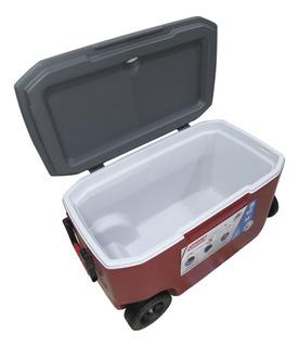 Caixa Térmica Cooler Coleman 58,7l Com Rodas Dreno E 2 Alças