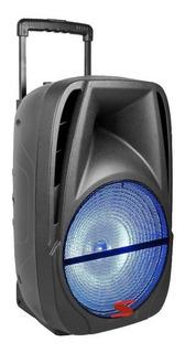 Parlante Portatil Activo Bateria Bluetooth Led Usb Fm Micro