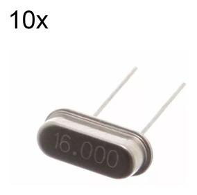 10 Pcs Cristal 16mhz Arduino Pic Oscilador Crystal 16000
