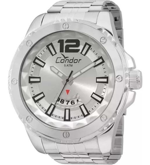 Relógio Condor Prata Co2115wy Original Nf
