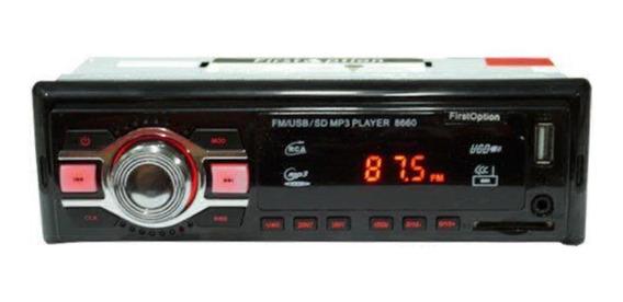 Som automotivo First Option MP3-8660 preto