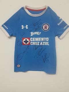 Jersey Cruz Azul Autografiado Por Leyendas Original