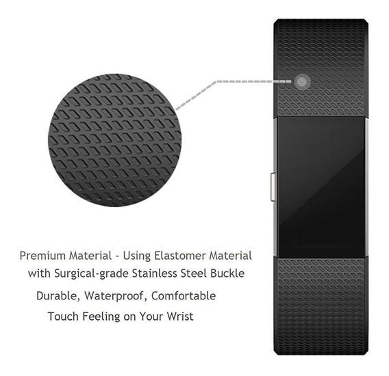 Pulseira Compatível Fitbit Charge 2 - Cor Preta