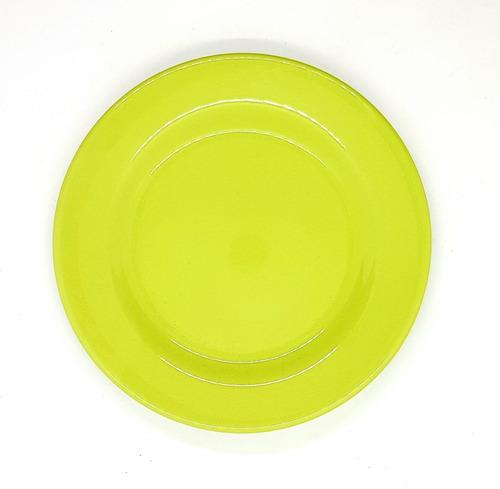 Plato Postre Biona Color Verde 18cm - Como Vivo