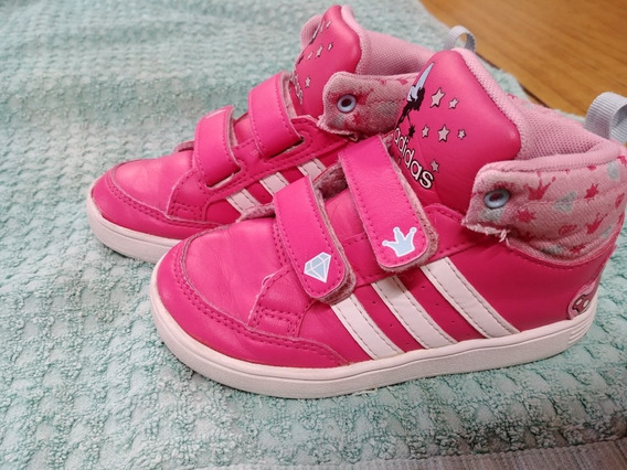 Zapatillas adidas Niña Rosas Modelo Botitas Casi Nuevas