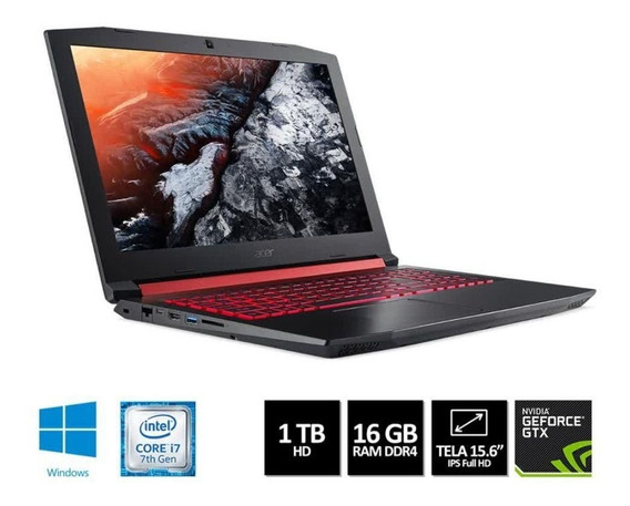 Notebook Gamer Acer Helios 300 I7 7700 16gb 1060 Gtx 6gb W10