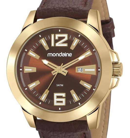 Relogio Mondaine Masculino Dourado 83389gpmvdh1 Casual C/nfe