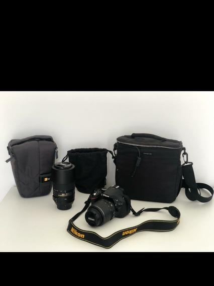 Câmera Nikon D5200 Zero + Lente