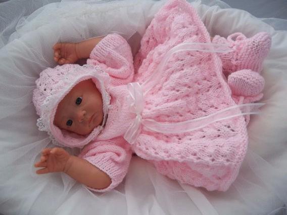 Primera Muda Del Bebe Ajuar Tejido A Mano Gratis Envio